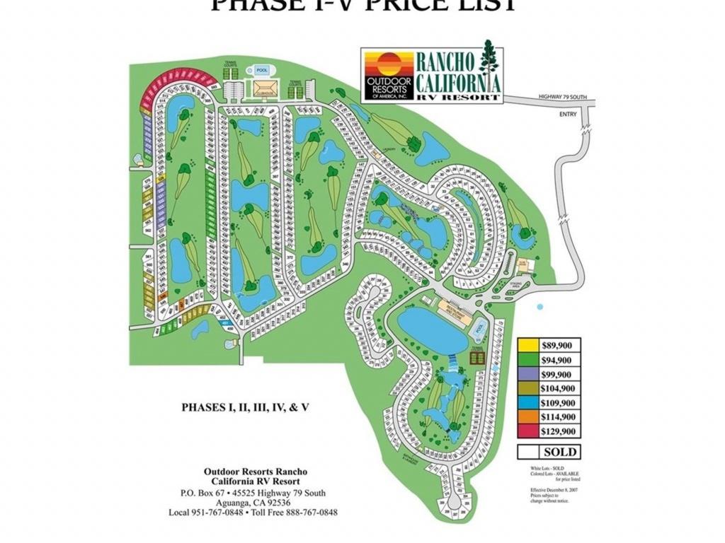 45525 Hwy 79 Lot 181, Aguanga, Ca 92536 | Mls# Sw18119640 | Purplebricks - Rancho California Rv Resort Site Map
