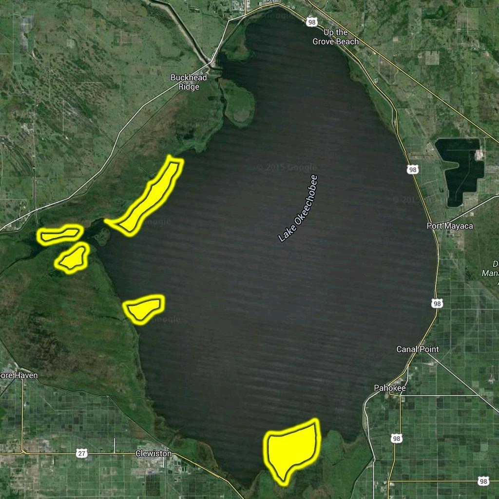 5 Key Areas On Okeechobee - Flw Fishing: Articles - Fishing Map Of Lake Okeechobee Florida