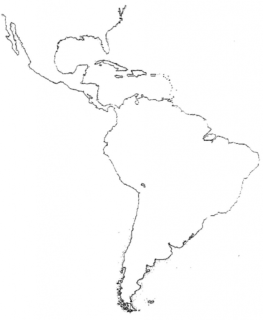 51 Full Latin America Map Study - Blank Map Of Central And South America Printable