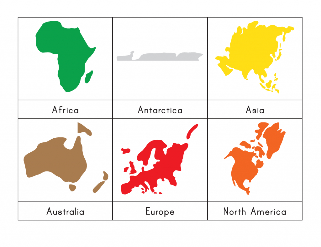 7 Continents Coloring Page | Free Download Best 7 Continents - Montessori World Map Free Printable