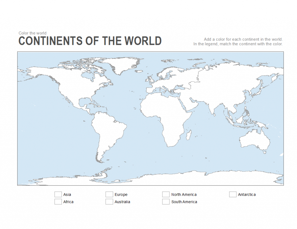 7 Printable Blank Maps For Coloring Activities In Your Geography - Printable Map Activities