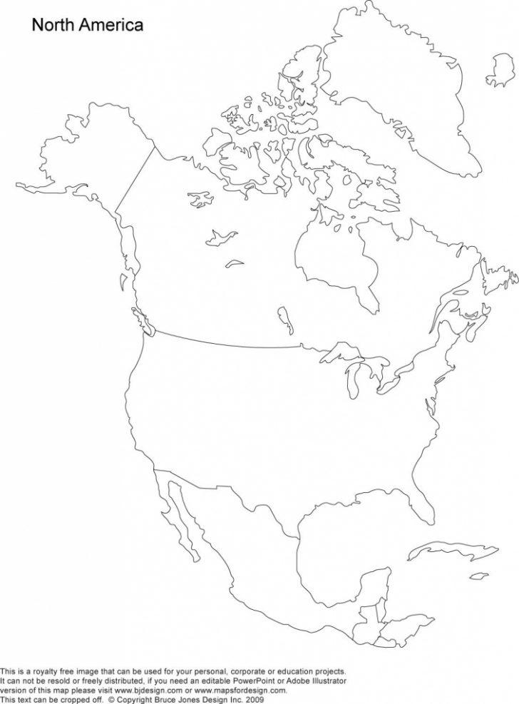 North America Map Printable