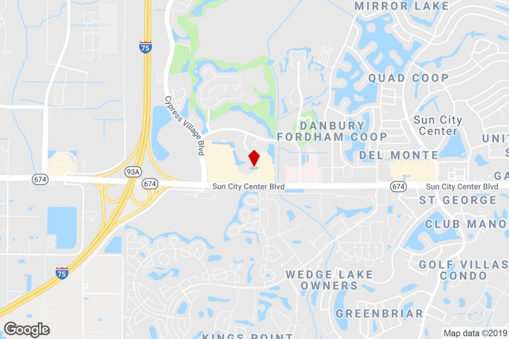 720 Cortaro Dr, Sun City Center, Fl, 33573 - Medical Property For - Sun City Florida Map