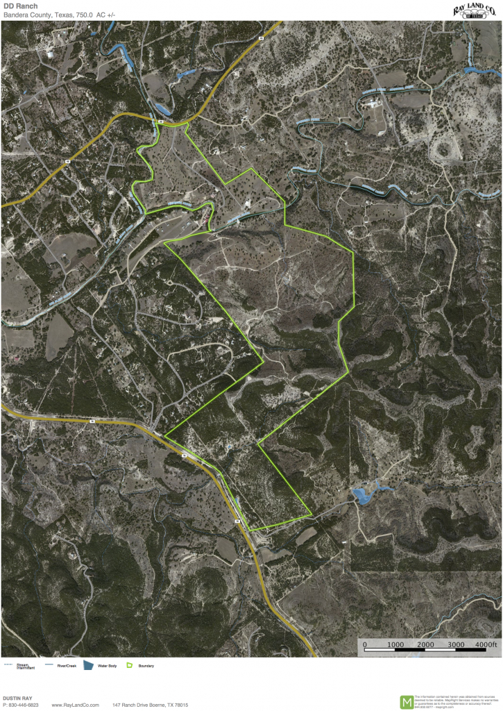 750 Acres In Bandera County, Texas - Pipe Creek Texas Map