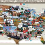 79 Weird Roadside Attractions Road Trip[Infographic]   Titlemax   Roadside Attractions Texas Map