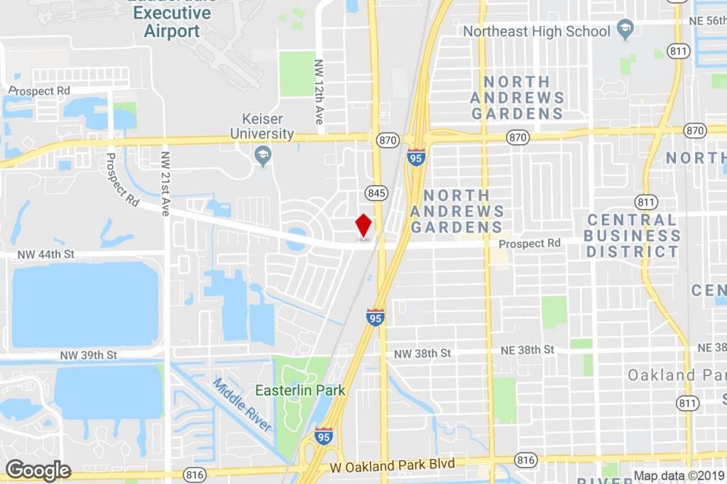 999 W Prospect Rd, Oakland Park, Fl, 33309 - Apartments Property For - Oakland Park Florida Map