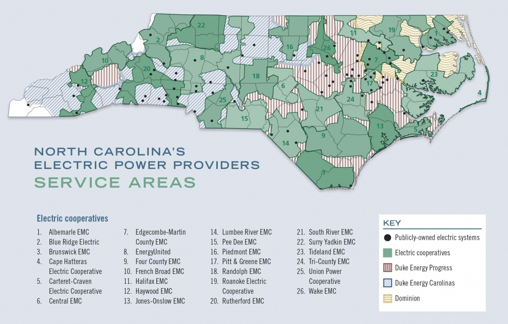 A Guide To North Carolina's Electric Power Providers - Carolina Country - Duke Energy Florida Coverage Map