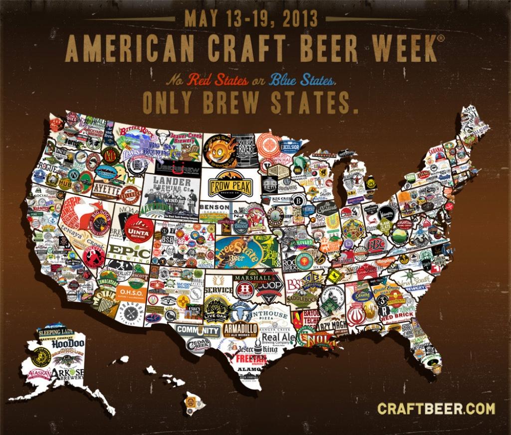 A Map For American Craft Beer Week – Realbeer - Texas Breweries Map