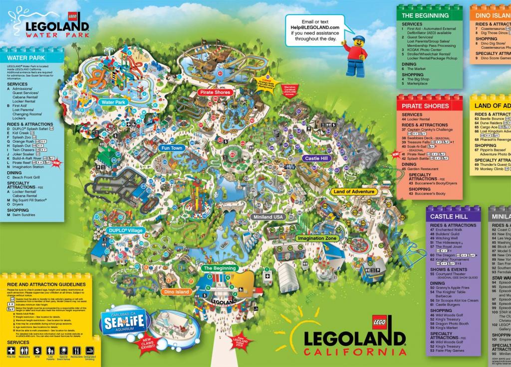 A Map Of Legoland California   Legoland California Resort; Carlsbad - Legoland Florida Map