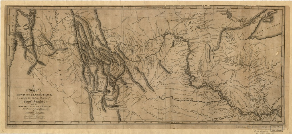 A Map Of Lewis And Clark's Track, Across The Western Portion Of - Lewis And Clark Printable Map