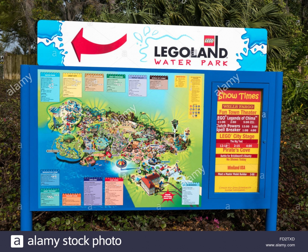 A Sign In Legoland Showing A Map Of The Theme Park Part Of The Lego - Legoland Florida Park Map