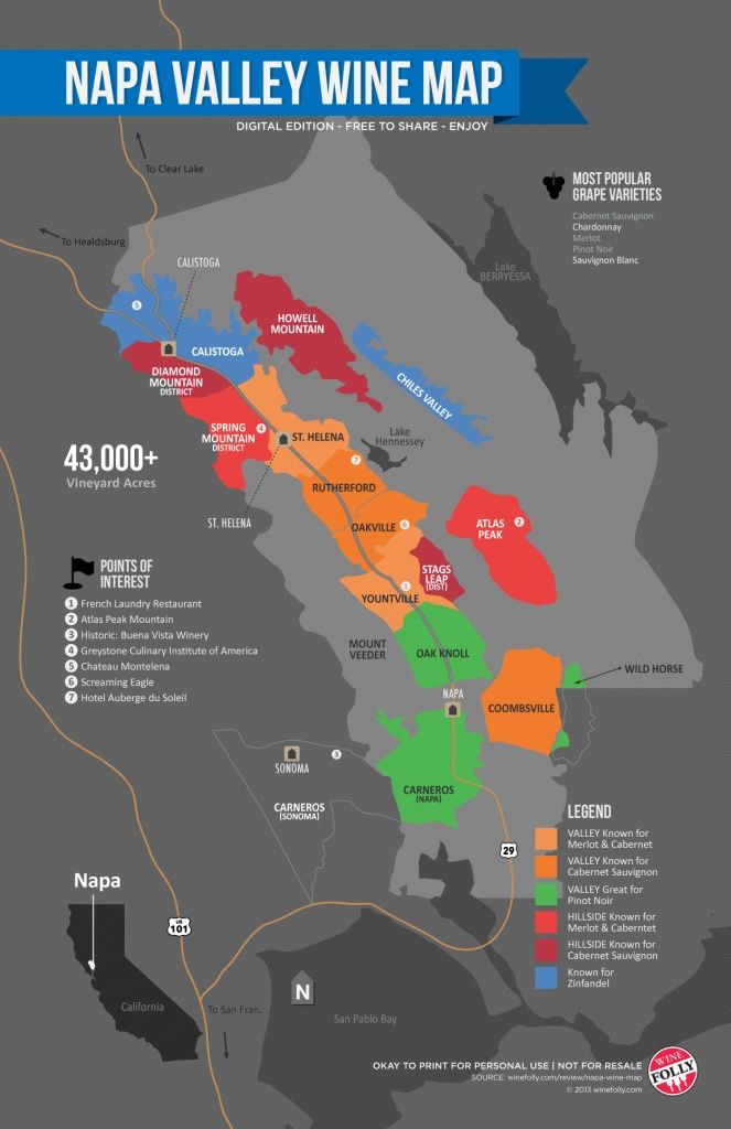 A Simple Guide To Napa Wine (Map)   Wine Folly - California Wine Map