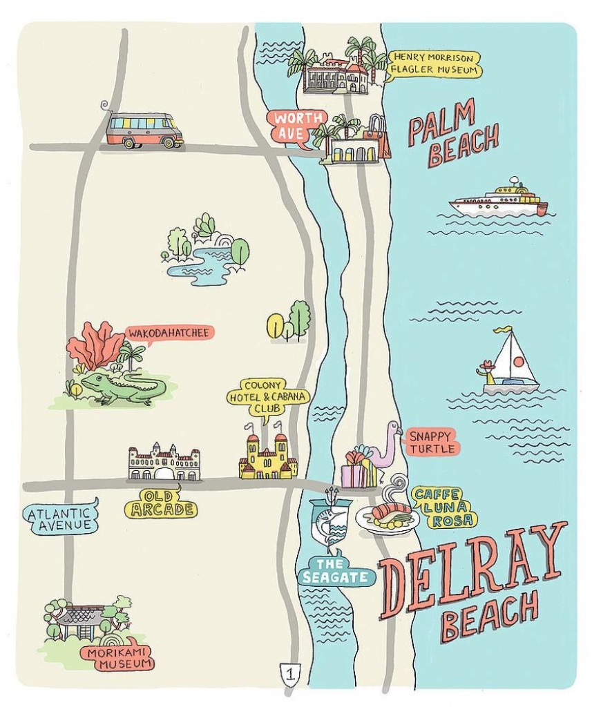 A Sunny Escape: 3 Perfect Days In Delray Beach, Florida   Other - Del Ray Florida Map