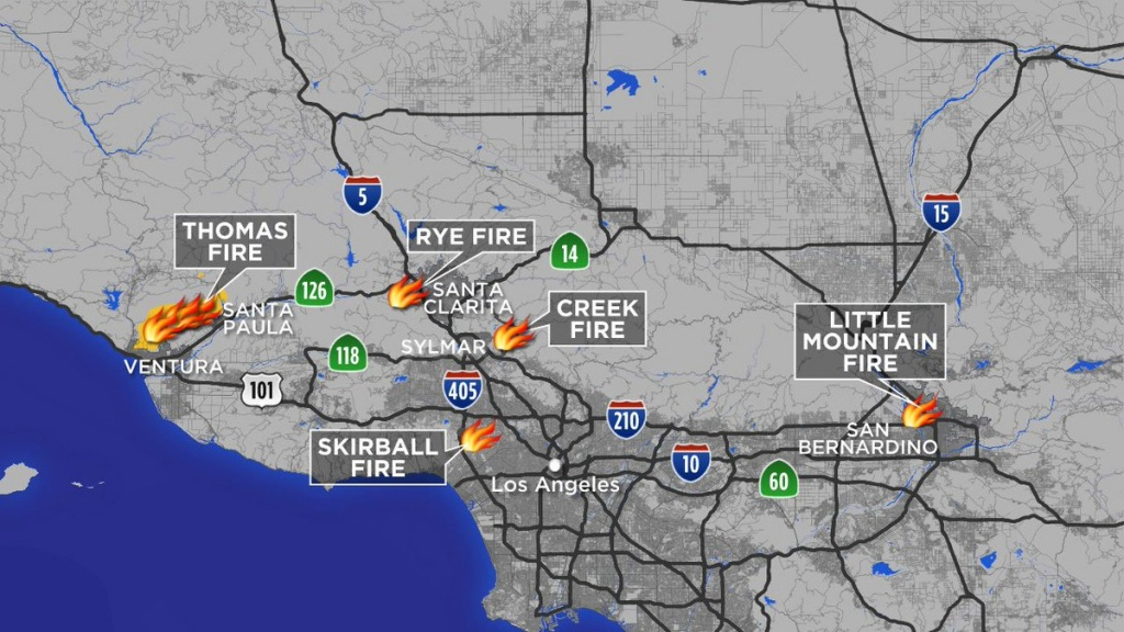 """Abc7 Eyewitness News On Twitter: """"maps: A Look At Each Southern - California Mountain Fire Map"""