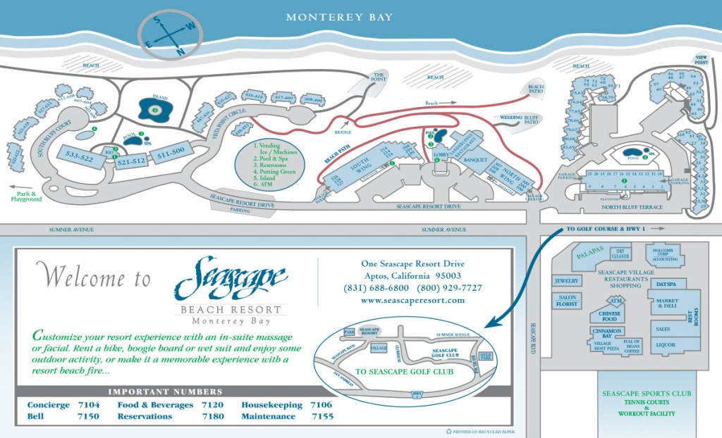 About Seascape | Resort Map - Seascape Resort Destin Florida Map