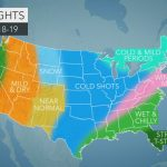 Accuweather's Us Winter Forecast For 2018 2019 Season   Southern California Weather Map