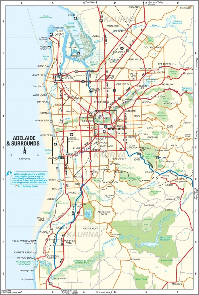 Adelaide Suburbs Map - Printable Map Of Adelaide Suburbs