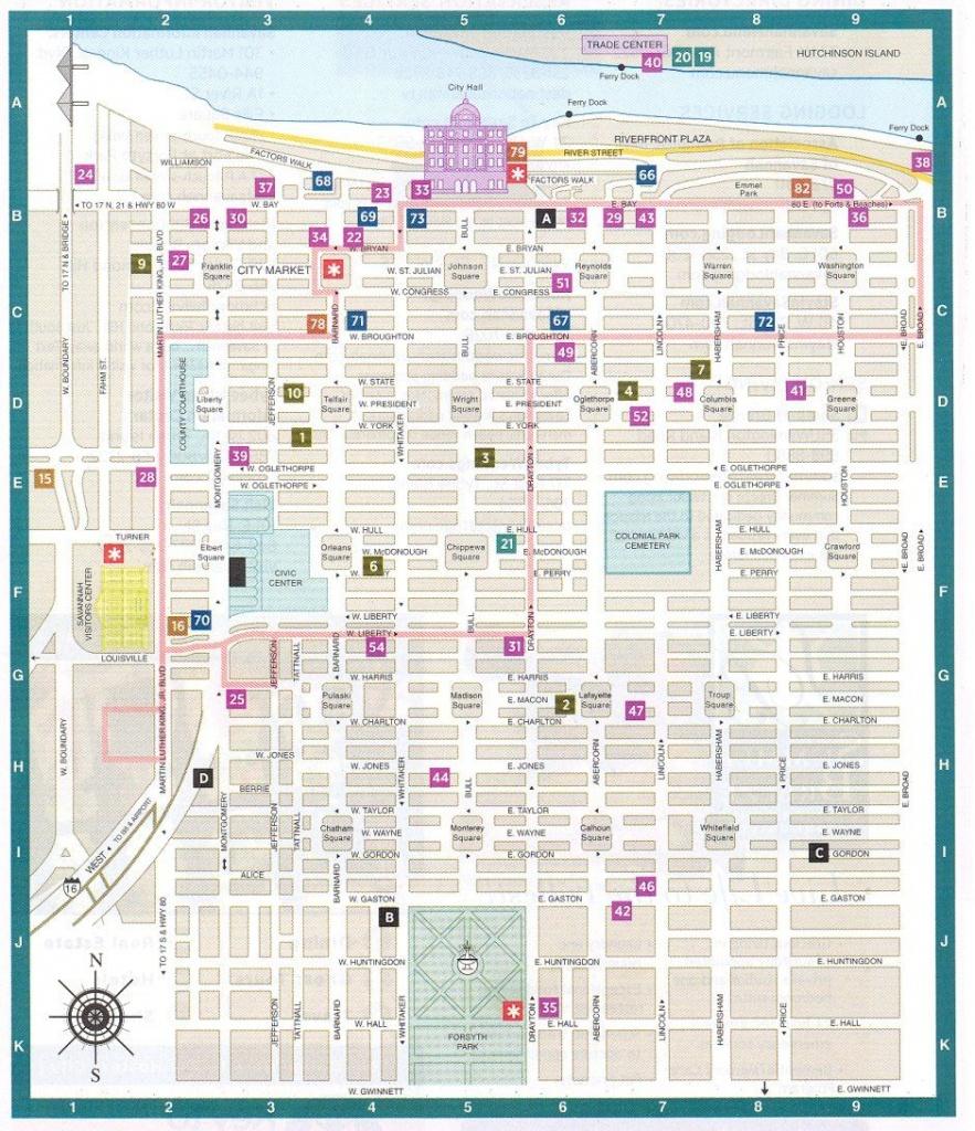 Aeaeccebdabddcace Best Map Of Savannah Georgia Historic District - Printable Map Of Savannah
