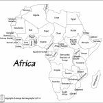 Africa Map Black And White | Sitedesignco   Printable Map Of Africa With Countries Labeled