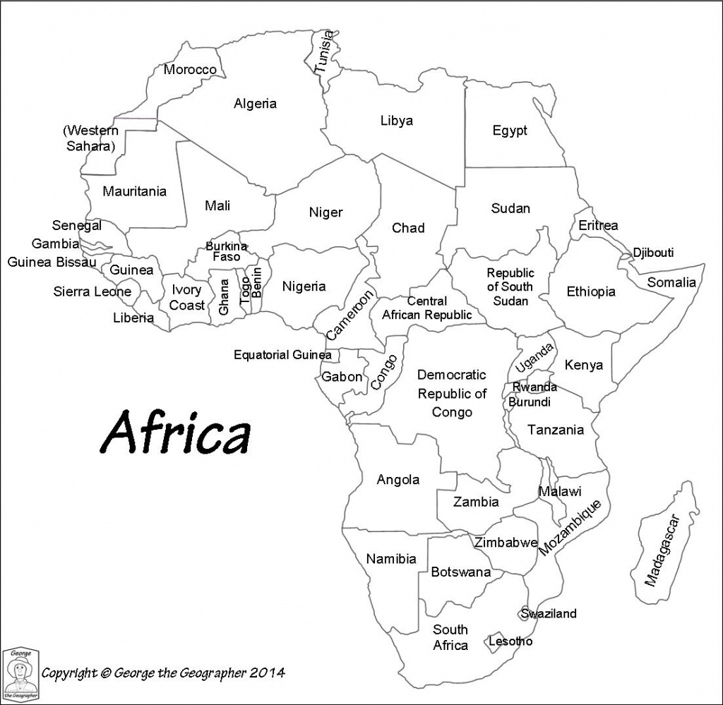 Africa Map Black And White | Sitedesignco - Printable Map Of Africa With Countries Labeled