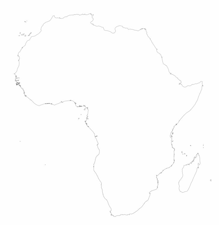 Free Printable Map Of Africa