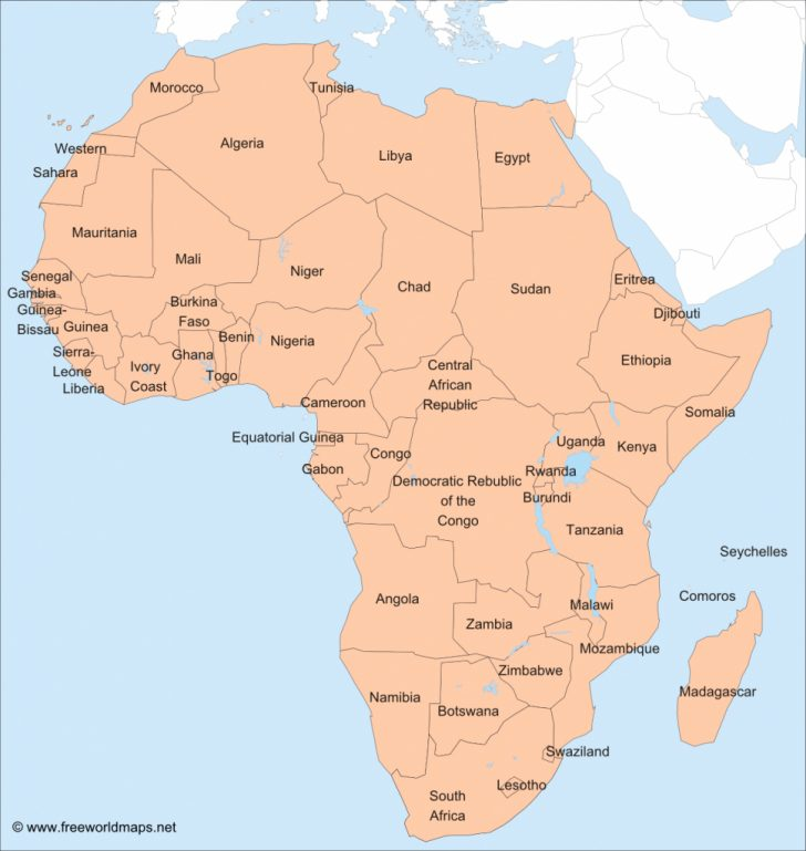Printable Map Of Africa