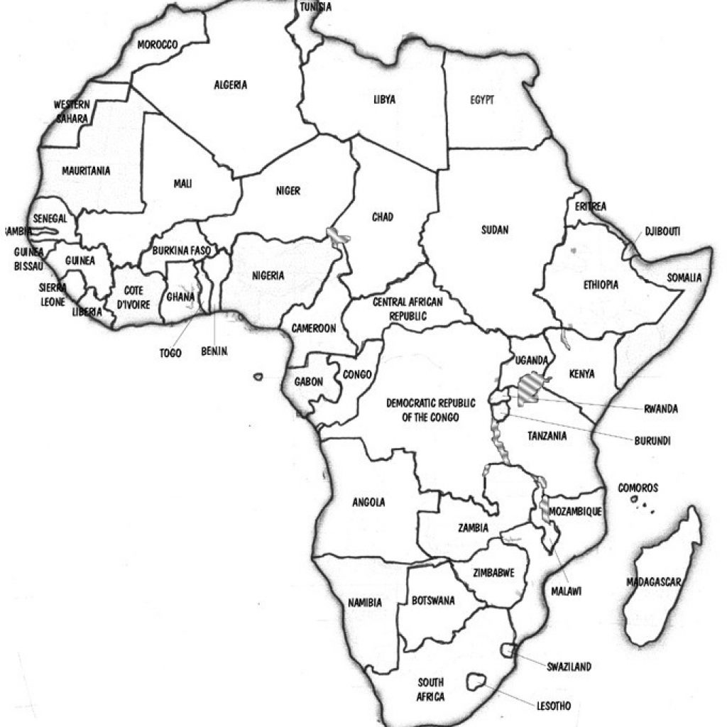 African Map Quiz Printable Blank Of Africa Fill In - Africa Map Quiz Printable