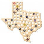 After 5 Workshop 21 In. X 20 In. Large Texas Beer Cap Map 4729   The   Texas Beer Cap Map