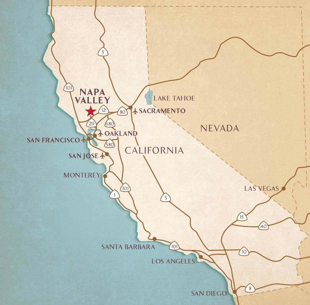 Airports Near Napa Valley | Transportation & Flight Information - Napa Valley California Map