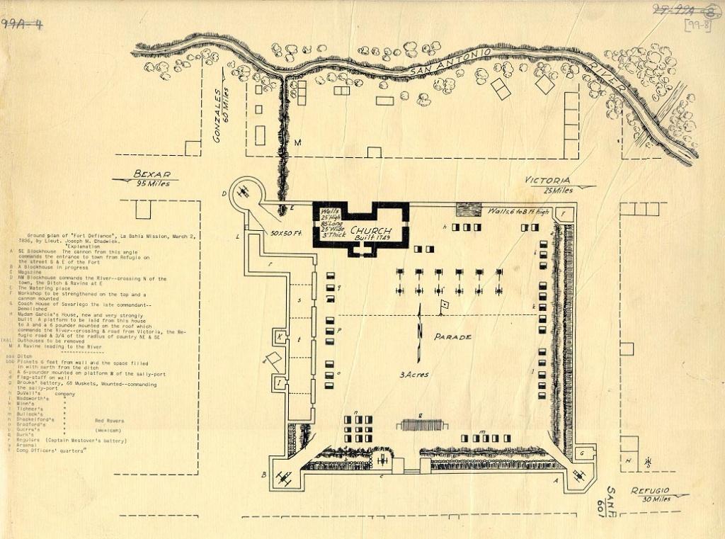 Alamo, Battle Of The   The Handbook Of Texas Online  Texas State - Map Of The Alamo San Antonio Texas