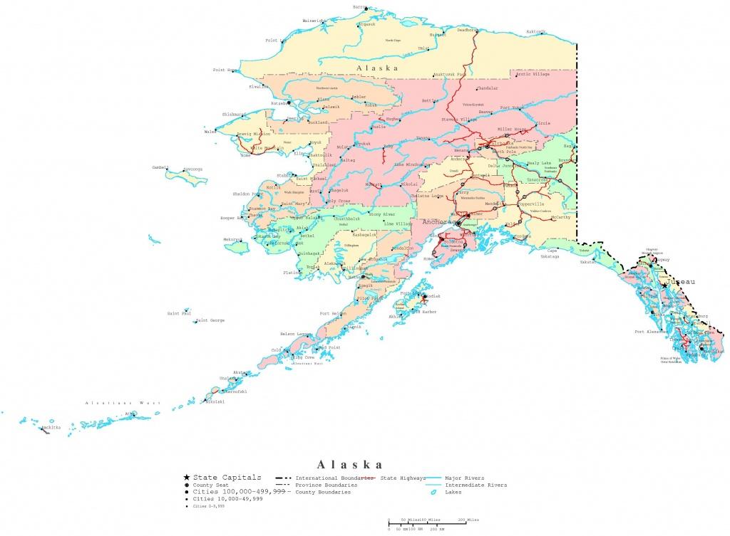 Alaska Printable Map - Alaska State Map Printable