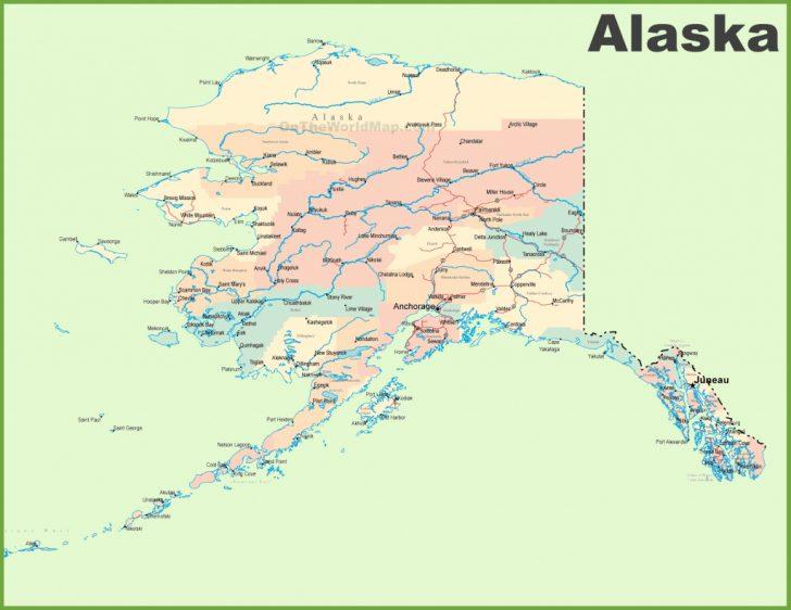 Printable Map Of Alaska