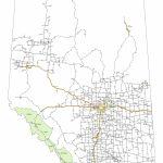 Alberta Highway Map   Printable Alberta Road Map
