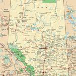Alberta Road Map   Printable Alberta Road Map