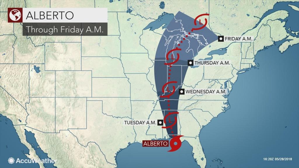 Alberto Slams Into Florida's Panhandle With Wind-Swept Flooding Rain - Florida Radar Map