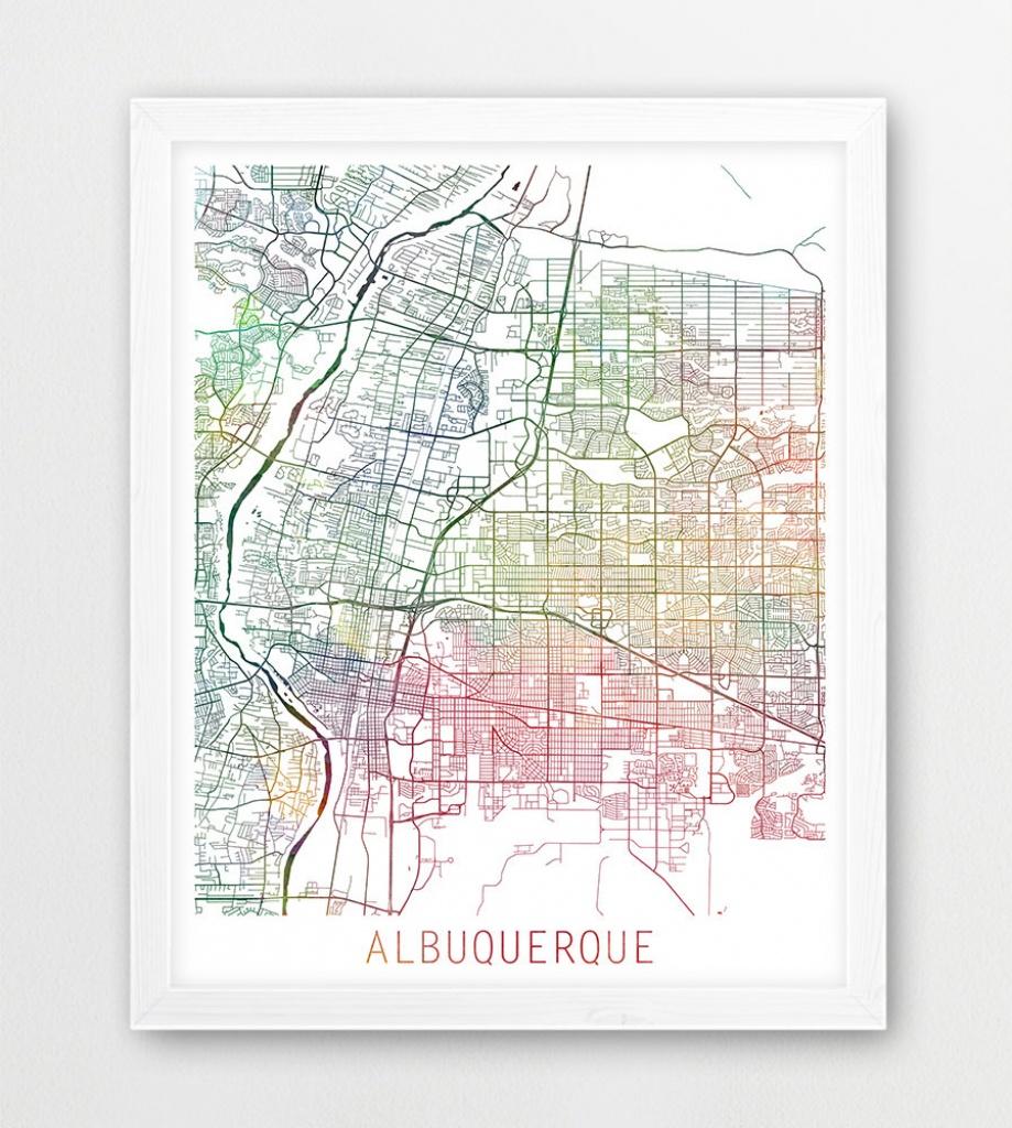 Albuquerque City Urban Map Poster Albuquerque Street Print | Etsy - Printable Map Of Albuquerque