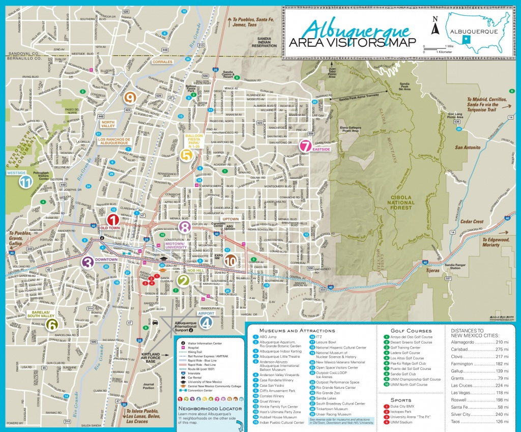Albuquerque Maps | New Mexico, U.s. | Maps Of Albuquerque - Printable Map Of Albuquerque