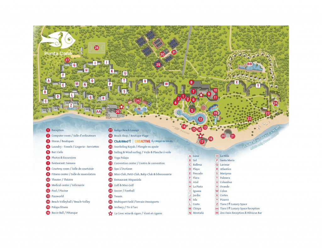All Inclusive Resort In Punta Cana | All Inclusive Vacations In The - Club Med Florida Map