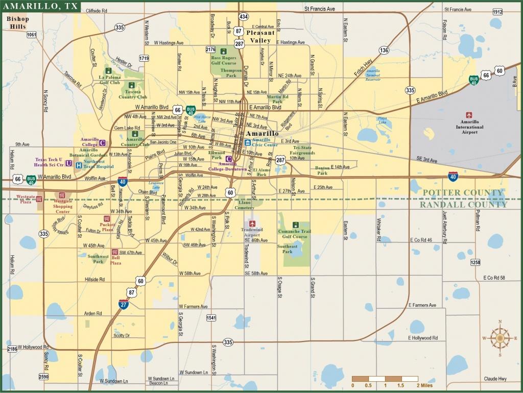Amarillo Metro Map1 15 Amarillo Texas Map   Ageorgio - Where Is Amarillo On The Texas Map