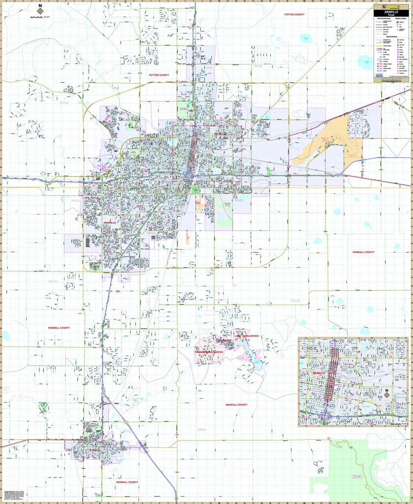 Amarillo Road Map Throughout Printable Map Of Amarillo Tx 15 - Printable Map Of Amarillo Tx