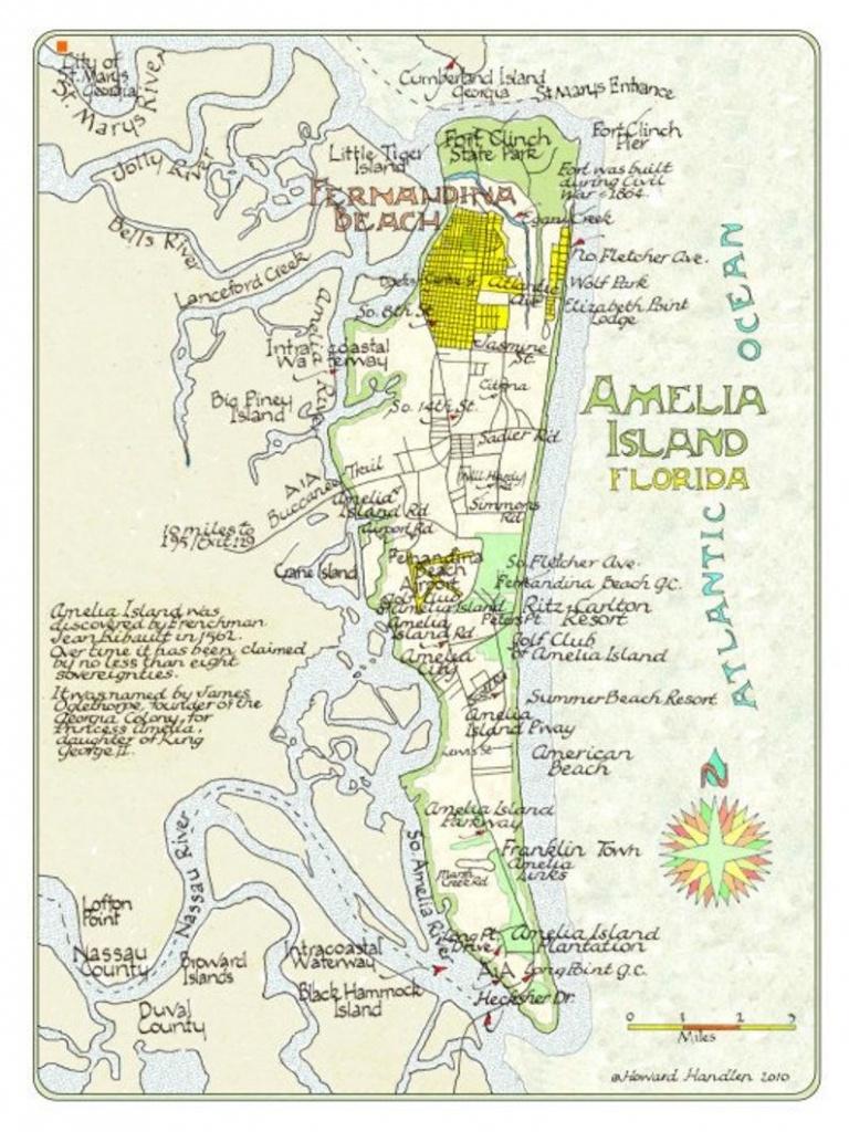 Amelia Island Florida In Two Sizes | Etsy - Amelia Island Florida Map