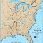 America's Great Loop Cruise Map   Intracoastal Waterway Florida Map
