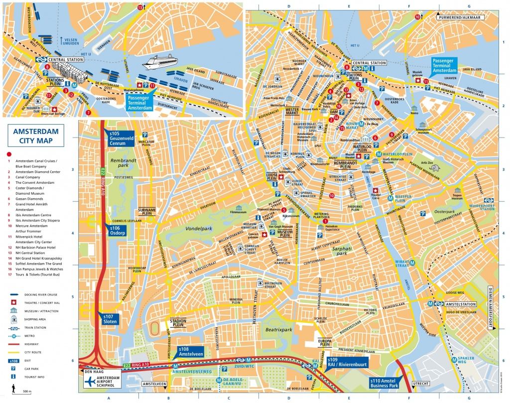 Amsterdam Attractions Map Pdf - Free Printable Tourist Map Amsterdam - Tourist Map Of Amsterdam Printable