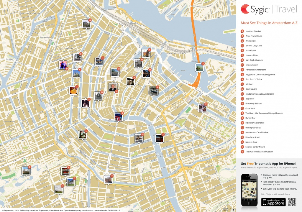 Amsterdam Printable Tourist Map   Sygic Travel - Printable Travel Maps