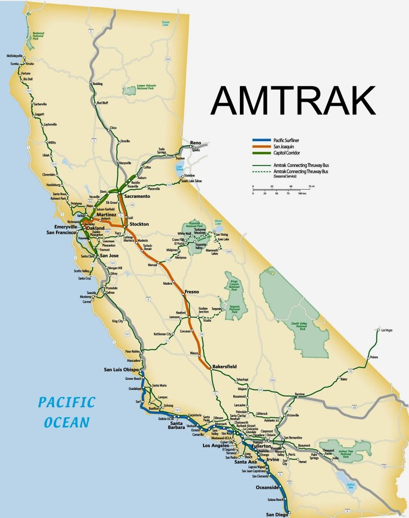 Amtrak Route Map Southern Map Of California Springs Amtrak Map - California Train Map