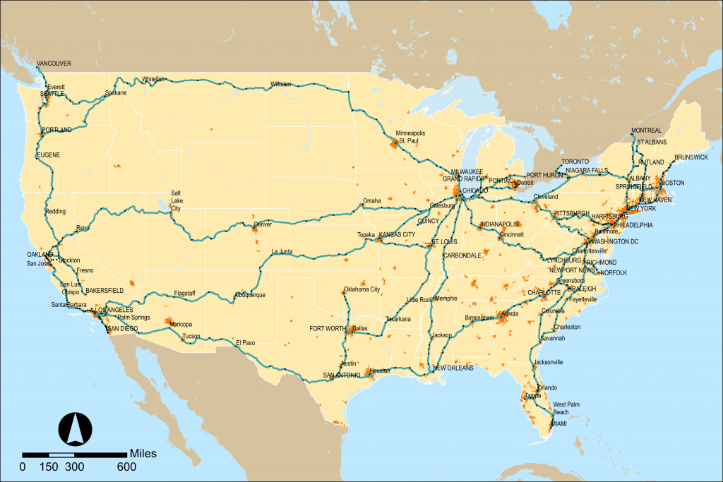 Amtrak - Wikipedia - Map Of Amtrak Stations In Texas