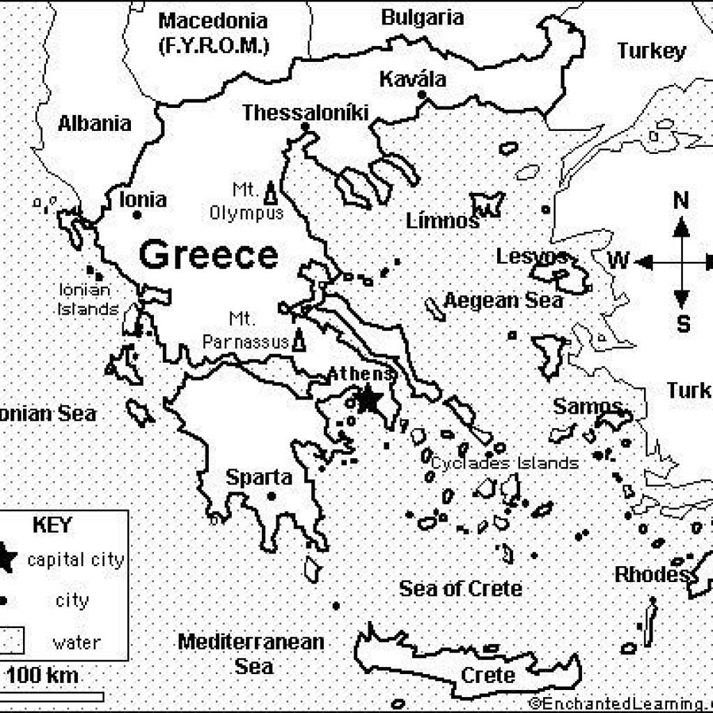 Ancient Greece Map Blank Worksheet Photos Places - Ancient Greece Map For Kids Printables