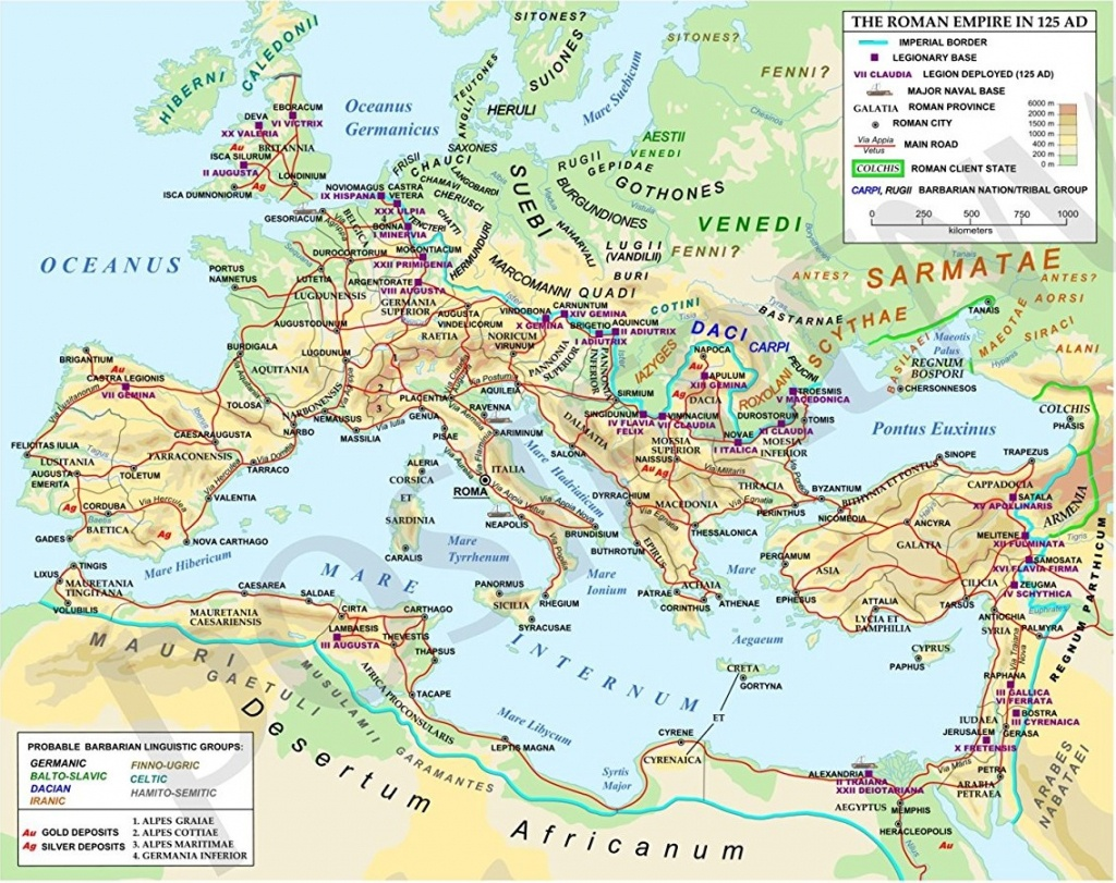 Ancient Rome Maps - Printable Map Of Ancient Rome
