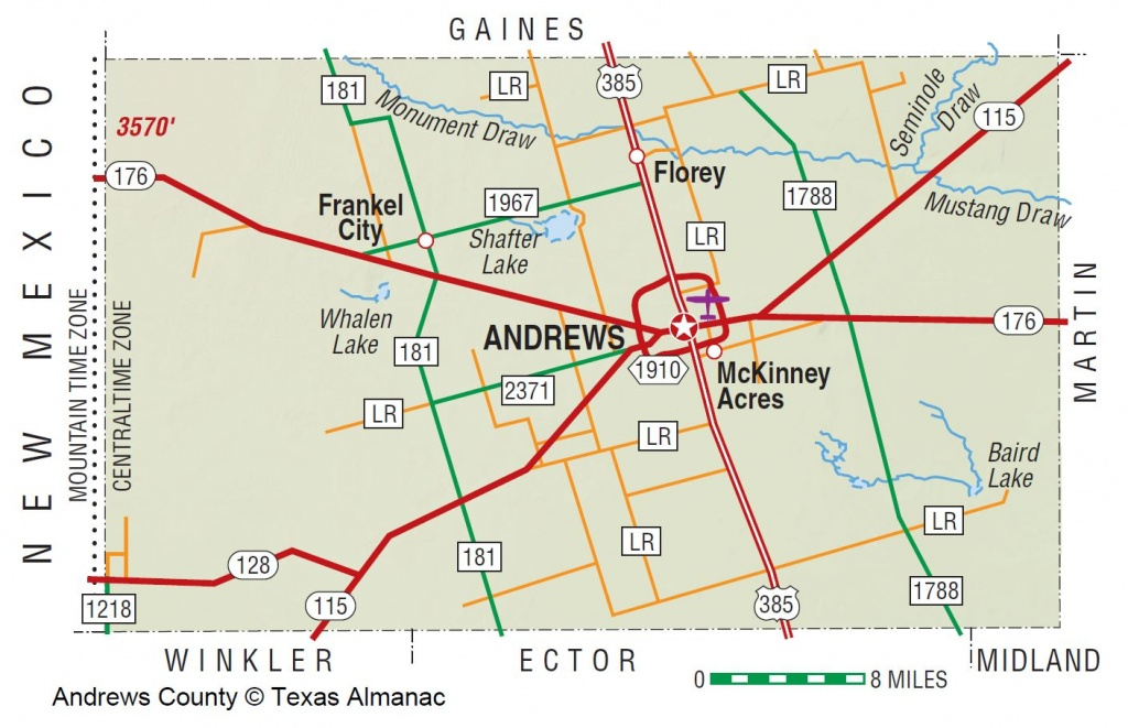 Andrews County | The Handbook Of Texas Online| Texas State - Howard County Texas Section Map