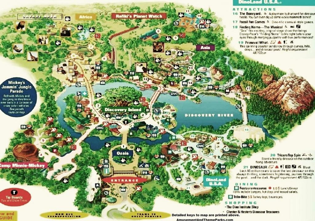 Animal Kingdom Map | Disney | Disney World Trip, Theme Park Map - Printable Disney Park Maps